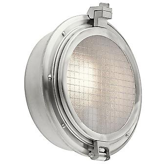 Elstead KL/CLEARPOINT Clearpoint 1 Light Outdoor Wall Light In Brushed Aluminium