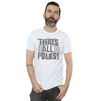 Looney Tunes Men's That's All Folks Text T-Shirt
