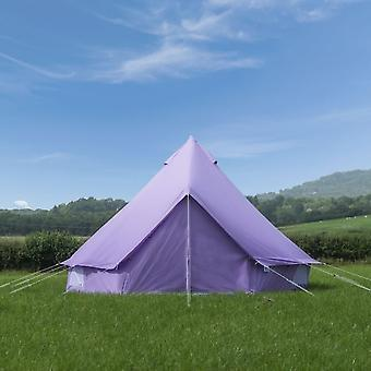 Boutique Camping 4m Pastel Lilac Bell Tent With Zipped In Ground Sheet