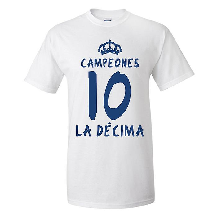 Real Madrid La T-shirt Decima (Blanc)