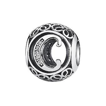 Sterling silver charm with zirconia stones letter C PSC008-C