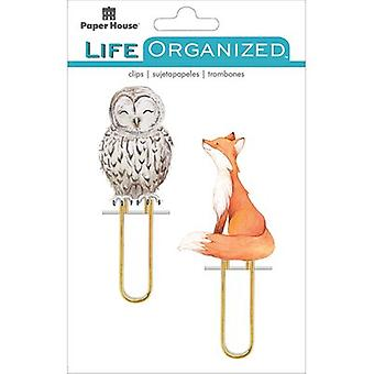 Paper House Life Organized Puffy Clips 2/Pkg-Autumn Woods PLPC005E