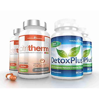 CitriTherm Fat Burner with DetoxPlus Combo - 2 Month Supply - Fat Burning and Colon Cleansing - Evolution Slimming
