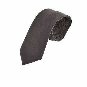 Luxe zilveren Donkergrijs velours Tie