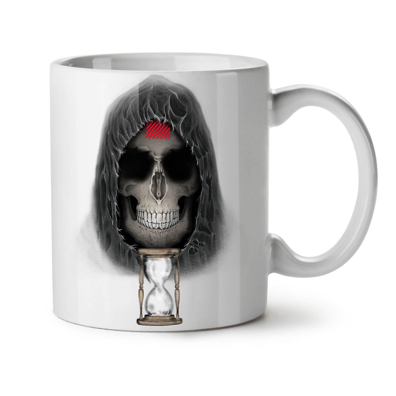 Blanc Tasse Café OzWellcoda Thé Métal Céramique 11 Horloge Skull Mort Nouveau WH92YIbeED
