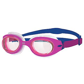 Zoggs Sonic Air Junior Swim Goggle - Tinted Lens - Pink Frame