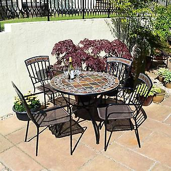 Europa Leisure Belmont 91cm Patio Set with 4 Kingswood Chairs