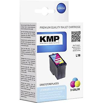 KMP Ink replaced Lexmark 33 Compatible Cyan, Mage