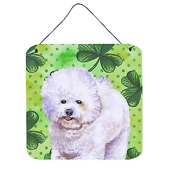 Bichon Frise St Patrick's Wall or Door Hanging Prints