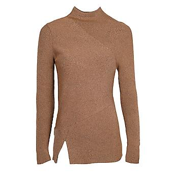 Pinko women's 1B123PY2TWCZB Brown viscose sweater