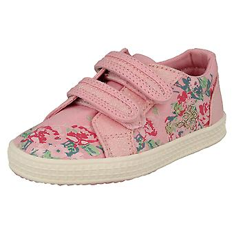 Girls Startrite Casual Canvas Shoes Edith 2 - Pink Canvas - UK Size 9.5F - EU Size 27.5 - US Size 10.5