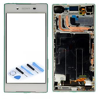 Sony display LCD complete unit with frame for Xperia Z5 E6603 E6653 white