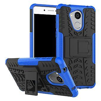 Hybrid Case 2teilig Outdoor Blau für Huawei Honor 6C Tasche Hülle Cover Schutz