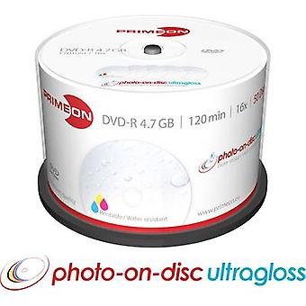 Blank DVD-R 4.7 GB Primeon 2761207 50 pc(s) Spindle Printable, Glossy surface, Waterproof, Smearproof
