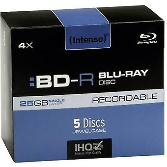 Blank Blu-ray BD-R 25 GB Intenso 5001215 5 pc(s) Jewel case