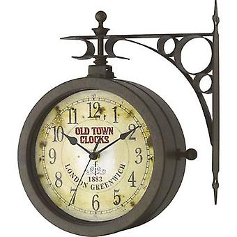 Quartz Wall clock TFA 603011 205 mm x 290 mm x 295 mm x 90 mm Antique finish, Black