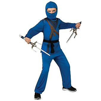 Blue Ninja Stealth Assassin Japanese Asian Warrior Book Week Boys Costume