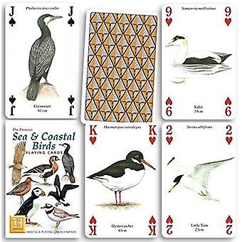 Meer & Küstenvögel Satz von 52 Spielkarten (+ Joker)