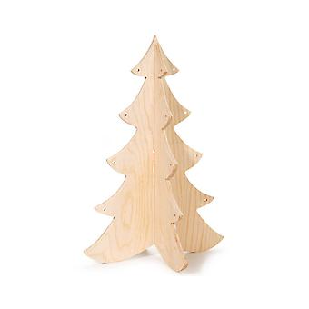 3D Wooden Christmas Tree to Decorate - 30.5cm Tall | Wooden Christmas Shapes