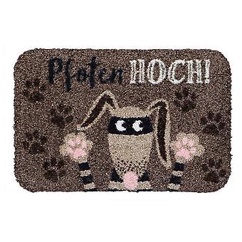 Salong lion mini matta tassar upp hund rolig liten dörrmatta sko förvaring