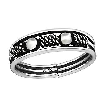 Bali - 925 Sterling Silver Plain Rings - W37862x