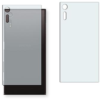 Sony Xperia XZ back screen protector - Golebo crystal-clear protector (deliberately smaller than the display, as this is arched)