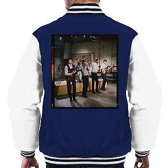 TV gange Rolling Stones TV ydeevne 1963 mænds Varsity jakke