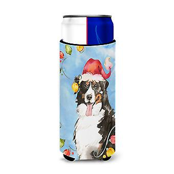Christmas Lights Bernese Mountain Dog Michelob Ultra Hugger for slim cans