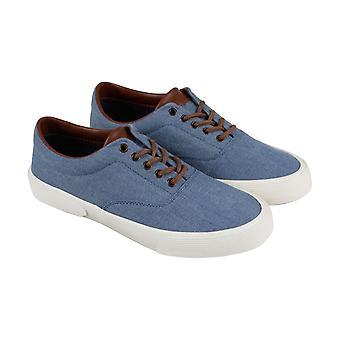 Kenneth Cole unoterte Agent Sneaker Mens blå tekstil lisse opp Sneakers sko