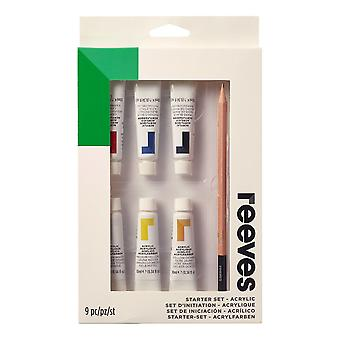 Reeves 9 Piece Acrylic Painting Starter Set