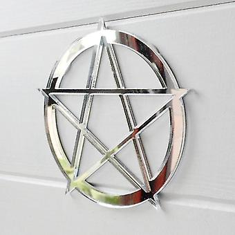 Circled Pentagram Acrylic Mirror