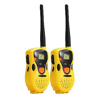 Pack of Two Hand held Walkie Talkie for children Kids toys Educational Games Yellow