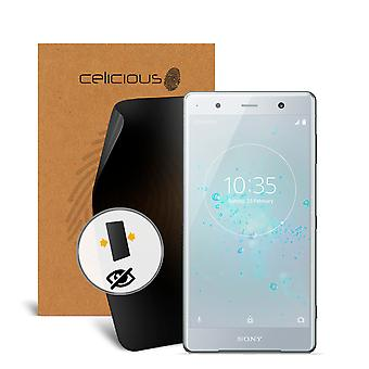 Celicious Privacy 2-Way Anti-Spy Filter Screen Protector Film Compatible with Sony Xperia XZ2 Premium