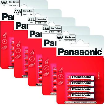 20 x Panasonic R03R-4BP AAA Size Batteries