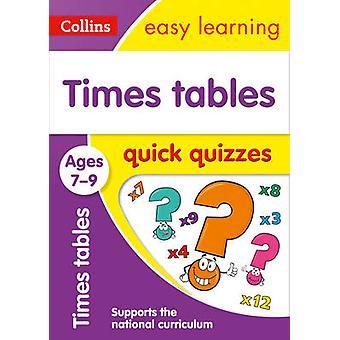 أوقات جداول الاختبارات السريعة الذين تتراوح أعمارهم بين 7-9 من كولينز سهلة التعلم-978000