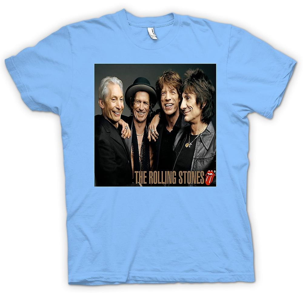 Mens T-shirt - The Rolling Stones - Band Portrait - Lips
