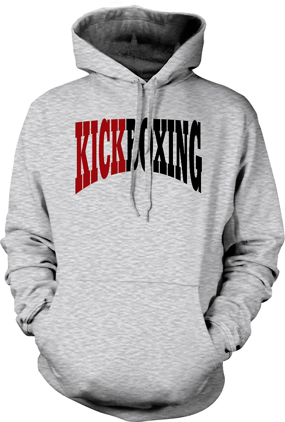 Mens Hoodie - Kickboxing - Martial Art - Slogan
