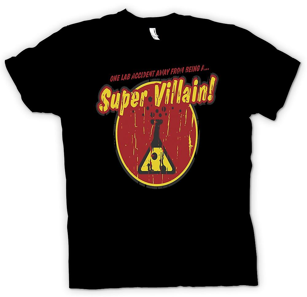 Womens T-shirt - un Lab Accident loin d'être un Super vilain - citation drôle