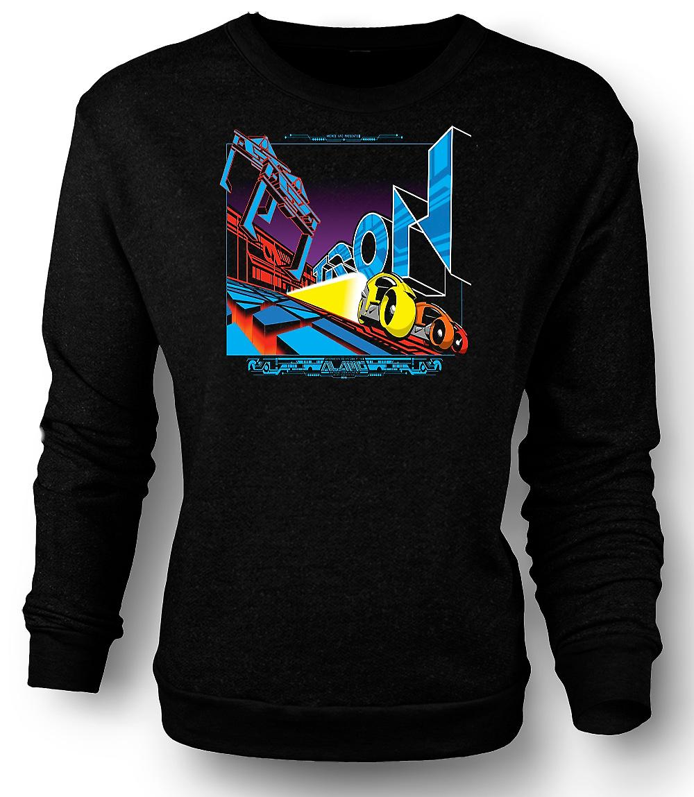 Mens Sweatshirt Tron - Pop Art - Cool B Movie