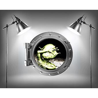 Full Colour Alien Porthole Space Boys Bedroom Wall Sticker