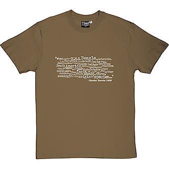 O pochodzeniu gatunków otwarcie linii Men's T-Shirt
