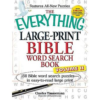 Everything Large-Print Bible Word Search Book - 150 Bible Word Search