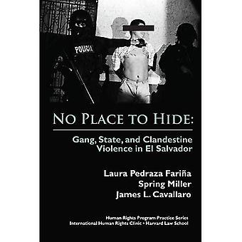 Ikke noe sted å skjule: gjengen, staten og hemmelig vold i El Salvador