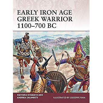 Tidiga järnåldern grekisk krigare 1100-700 f.Kr.