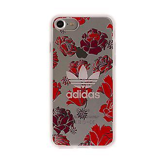Adidas Originals Coque Transparent Case for iPhone 8/7 - Rose/Red