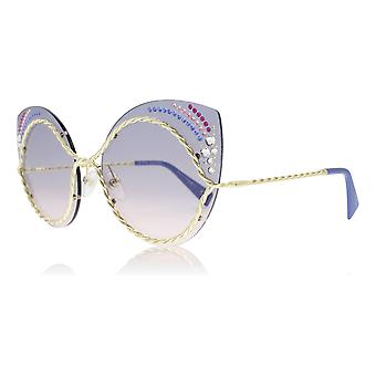 Marc Jacobs Marc 161/S/STR BR0 Blue / Pink Marc 161/S/STR Cats Eyes Sunglasses Lens Category 2 Size 61mm