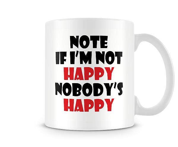 I'm Not Happy Nobodys Happy Mug