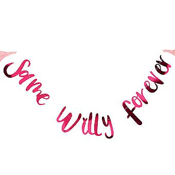 'Same Willy Forever' Bunting 2m Hen Party Decoration