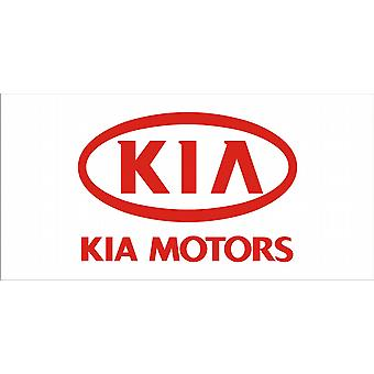 Large Kia Motors flag (white bgrd) 1500mm x 900mm    (of)