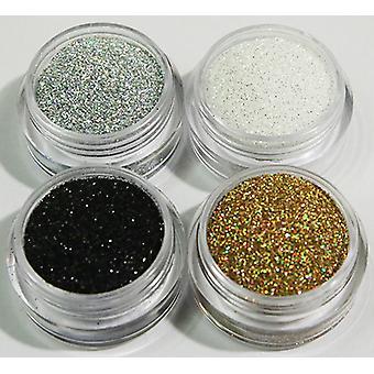 4st finkornigt glitter basic